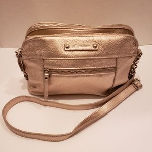 B. Makowsky gold metallic crossbody